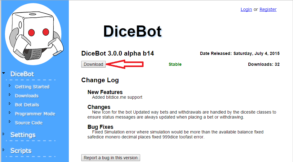 Getting Started with DiceBot